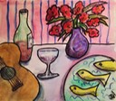 still life with guitar and fish sm